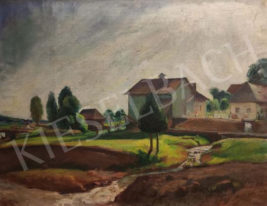 Eladó  Boldizsár István - Nagybányai táj patakkal, 1929 festménye