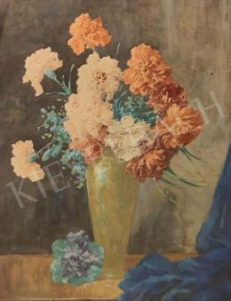 Komáromi-Kacz Endréné (Kiss, Sarolta) - Szegfűk vázában