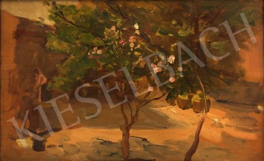 Eladó Bruck Lajos - Tavaszi kertben festménye