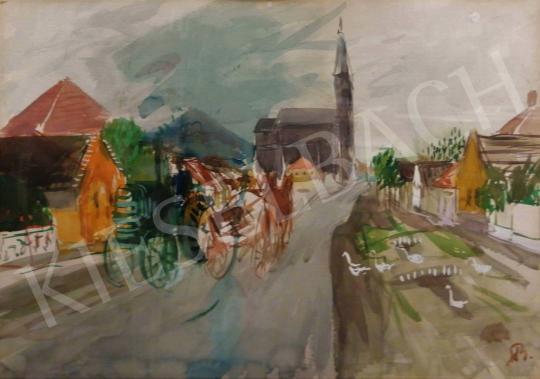 Eladó  Bernáth Aurél - Falusi utca Gyulakeszin, 1961 festménye
