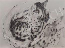 Székely Kálmán - Háttal kuporodó macska