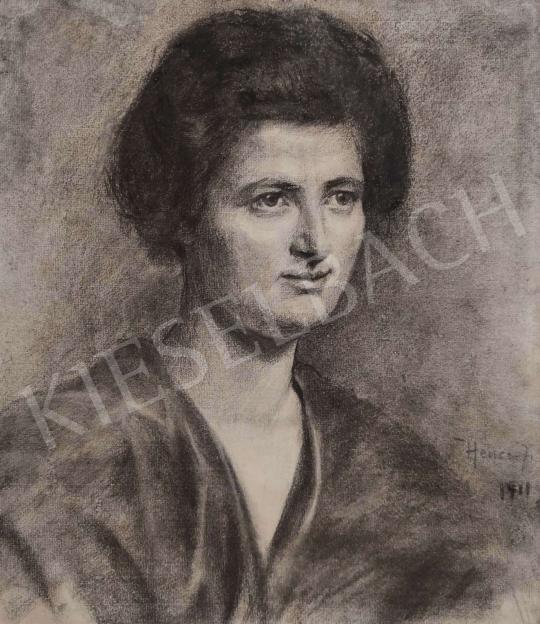 Eladó  Hencz jelzéssel - Női portré, 1911 festménye
