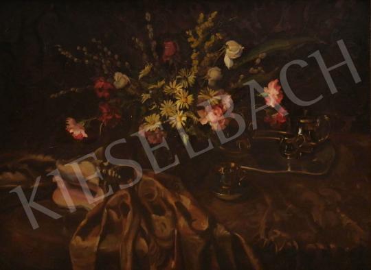 Eladó  Tunyogi Szűcs Sándor - Műtermi csendélet virágokkal festménye