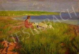 Kacziány Aladár - Lány a Balaton partján (Horizont)