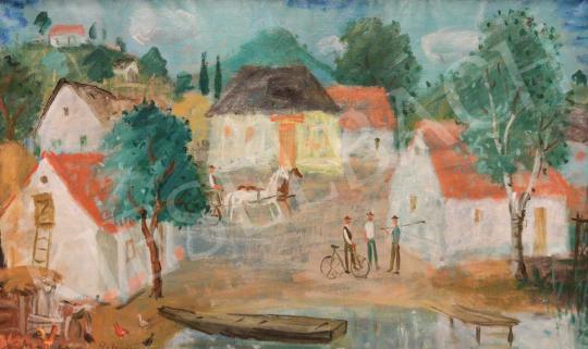 Eladó Pekáry István - Vízparton festménye