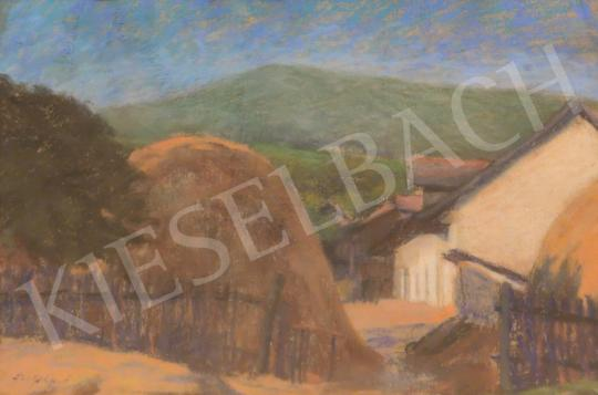 Eladó Szigeti Jenő - Kert végében festménye