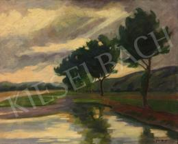 Ács, Ferenc - River View with Tree Line