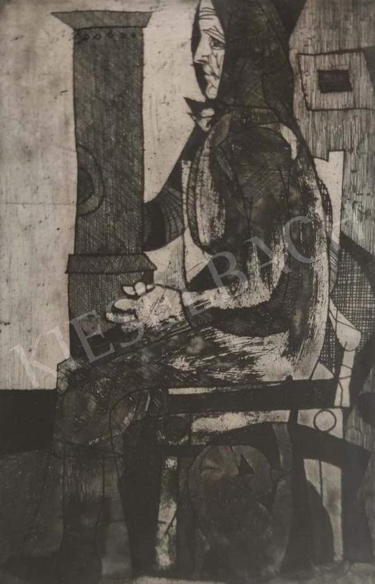 Eladó  Lenkey Zoltán - Ülő, 1964 festménye