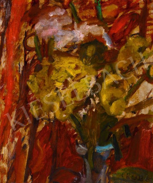 Eladó  Czóbel Béla - Virágcsendélet vázával, 1930-as évek festménye