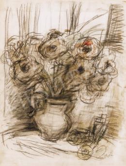 Czóbel Béla - Virágcsendélet