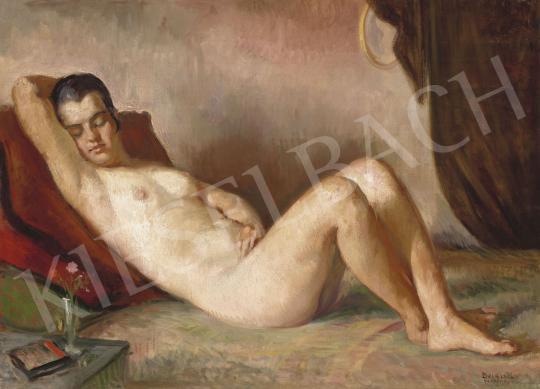 Eladó  Boldizsár István - Fiatal lány a nagybányai műteremben festménye