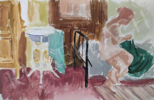 Eladó Tamás Ervin - Lefekvés előtt, 1954 festménye