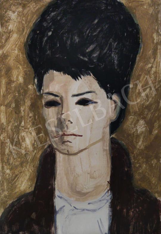 Eladó Tamás Ervin - Kontyos lány, 1964 festménye