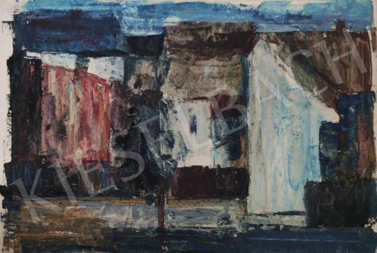 Eladó Tamás Ervin - Fa a házak között, 1958 festménye