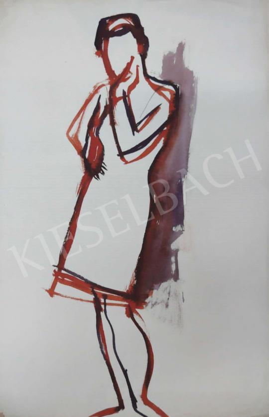 Eladó Tamás Ervin - Töprengő fiatal lány, 1969 festménye