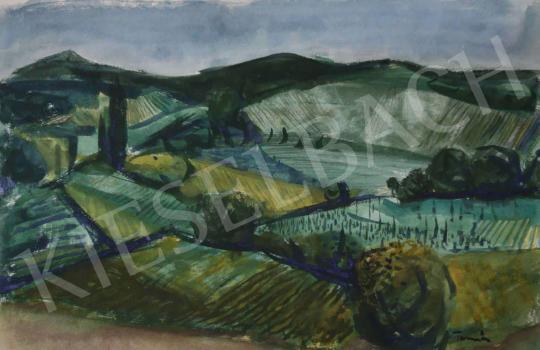 Eladó Tamás Ervin - Zöldellő tavasz (Mezők), 1975 festménye