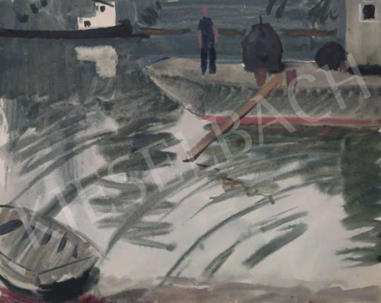 Eladó Tamás Ervin - Kikötőben, 1958 festménye