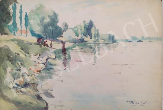 Eladó  Kássa Gábor - Napfényes Dunaparton festménye