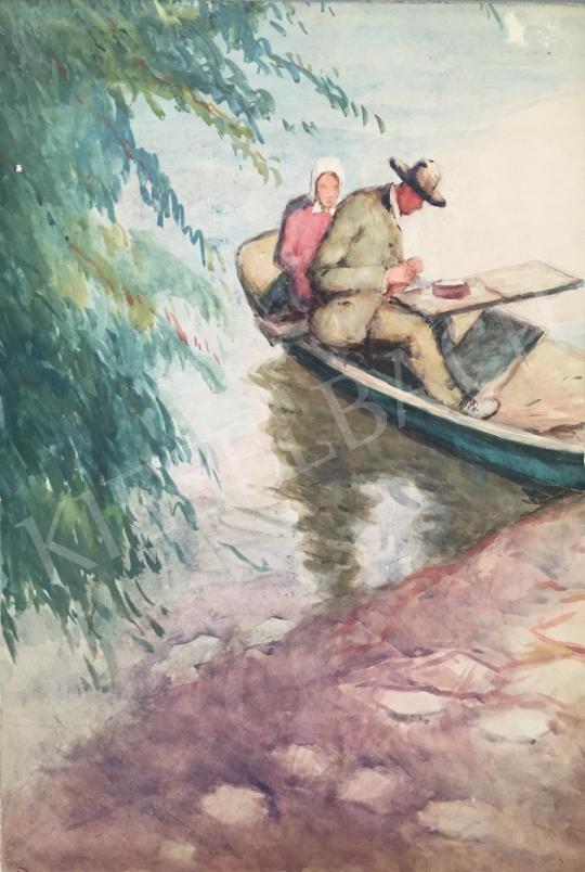 Eladó  Kássa Gábor - A pesti Dunapart a művésszel festménye