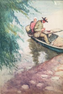 Kássa Gábor - A pesti Dunapart a művésszel