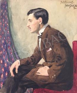 Gábor, Jenő - Man with black bow tie (Portait of Gábor Kássa)