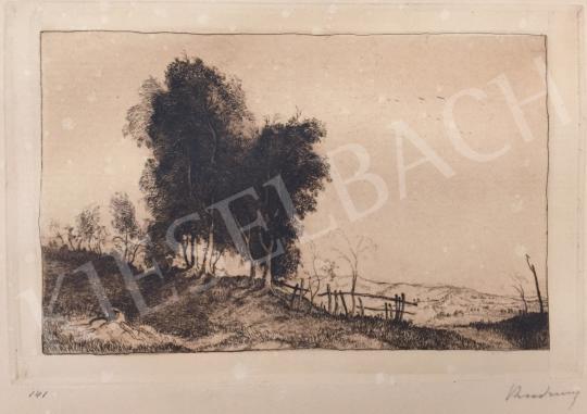 Eladó  Rudnay Gyula - Magyar táj (Hommage á Rembrandt) festménye