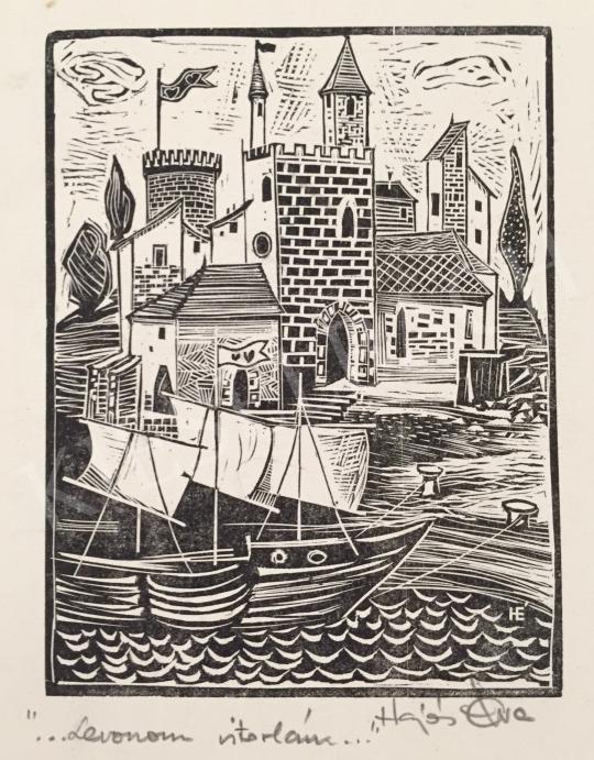 Eladó  Hajós Éva - Levonom a vitorlám (Megérkezés) festménye