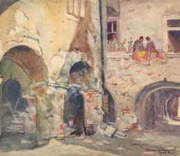 Kássa Gábor - Budai ház udvara