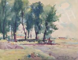 Kássa Gábor - Rómaifürdőn (Nyári nap), 1951