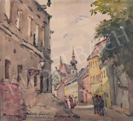 For sale  Kássa, Gábor - Fortuna Street (Budapest, I. district), 1950 's painting