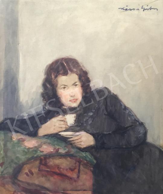 Eladó  Kássa Gábor - Egy csésze kávé  festménye