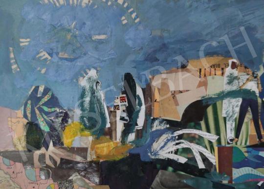 Eladó Tamás Ervin - Napsugarak, 1974 festménye