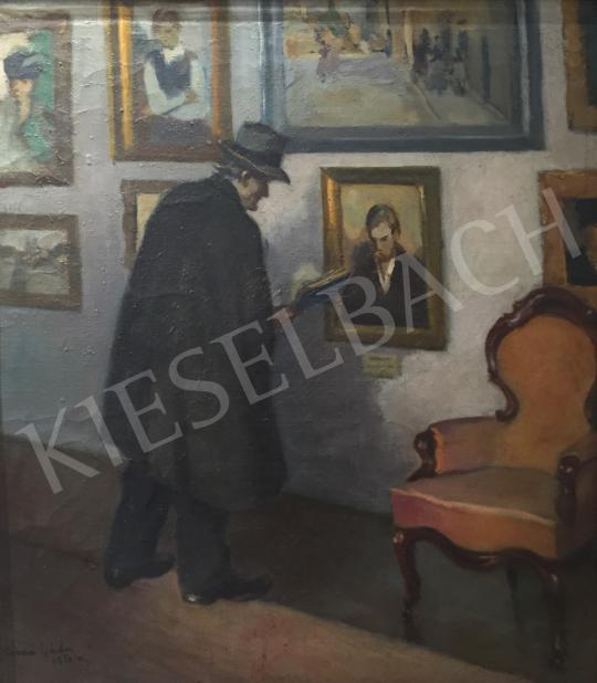 Eladó  Kássa Gábor - A Nemzeti Szalon kiállításán, 1958 festménye