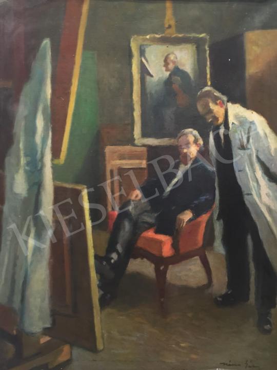 Eladó  Kássa Gábor - Műértők festménye