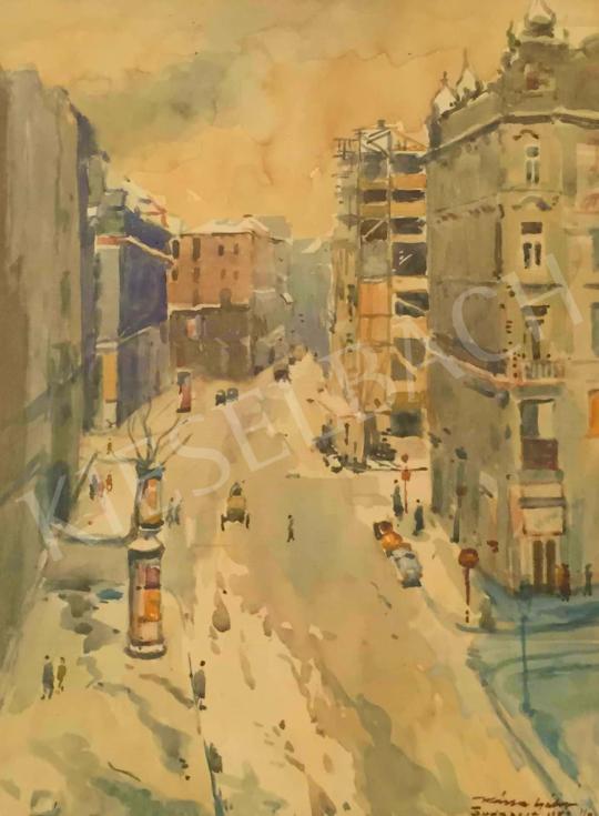 Eladó  Kássa Gábor - Budapesti nagykörút, 1952 festménye