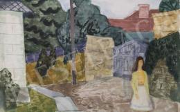 Tamás Ervin - Sárga kardigános nő, 1957