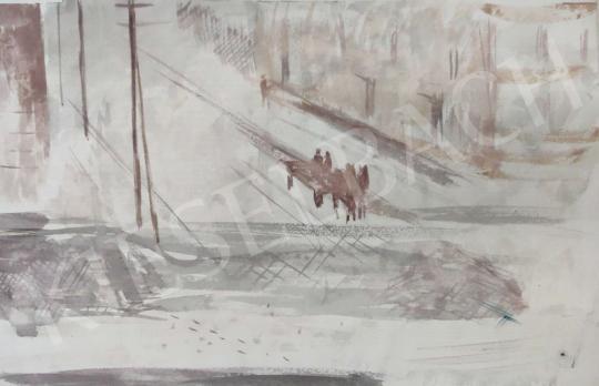 Eladó Tamás Ervin - Stráfkocsi festménye