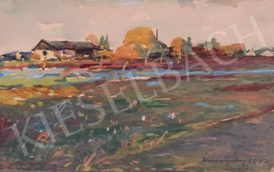Eladó  Kássa Gábor - Zuglói tanya (Budapest) festménye