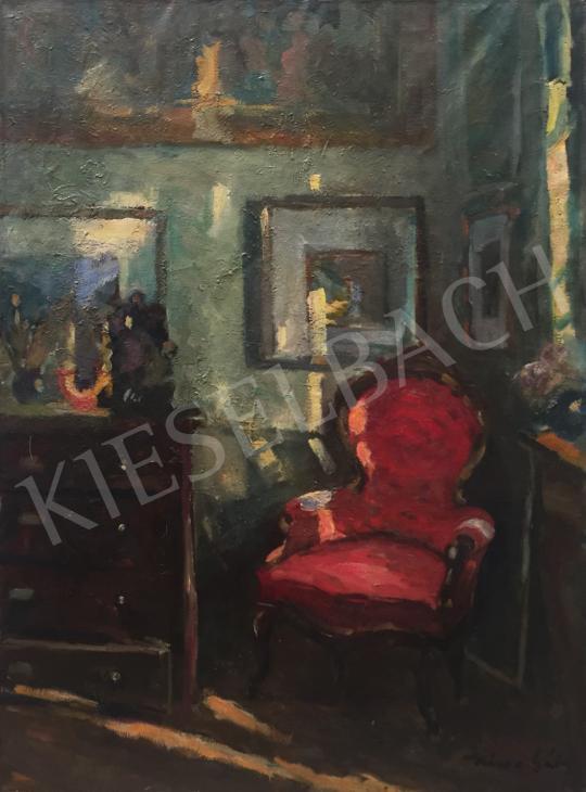 Eladó  Kássa Gábor - Egy polgári otthon fényei, 1948 festménye