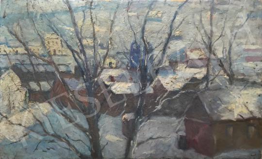 Eladó  Kássa Gábor - Téli Budapest festménye