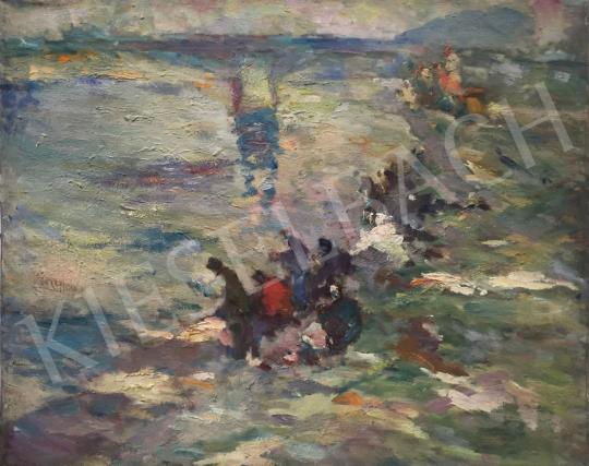 Eladó  Kássa Gábor - Budapesti Dunaparton festménye
