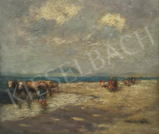 Eladó  Kássa Gábor - Balaton part, szemben a Badacsonnyal festménye