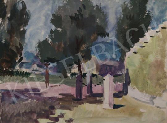 Eladó Tamás Ervin - Nyári nap a város terén, 1958 festménye