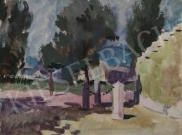 Tamás Ervin - Nyári nap a város terén, 1958