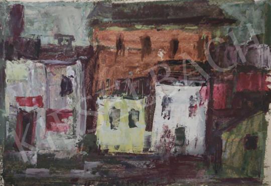 Eladó Tamás Ervin - Színes házak, 1959 festménye