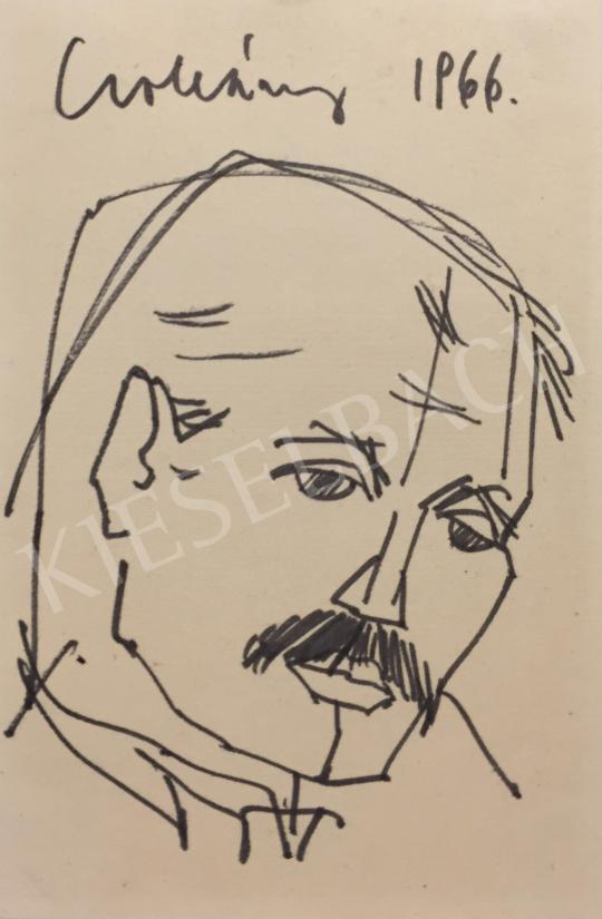 Eladó Csohány Kálmán - Önarckép, 1966 festménye
