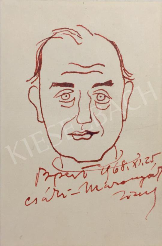 Eladó  Csáki-Maronyák József - Önarckép, 1968 festménye