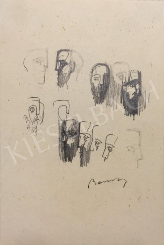 Eladó  Barcsay Jenő - Férfi portrék festménye