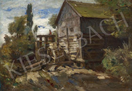 Eladó  Iványi Grünwald Béla - Tájkép vizimalommal festménye