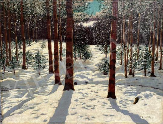 Eladó  Olgyai Viktor - Tél erdő festménye